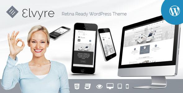 Elvyre – Retina Ready WordPress Theme - Business Corporate