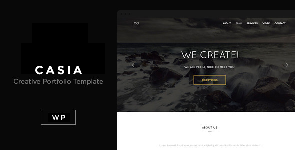 WordPress 3.9 Ready Casia is a clean and responsive one-page creative portfolio that is perfect to promote your work in a very professional and pleasant way. C