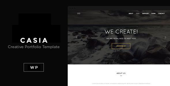Casia - Minimal Clean WordPress Theme - Creative WordPress