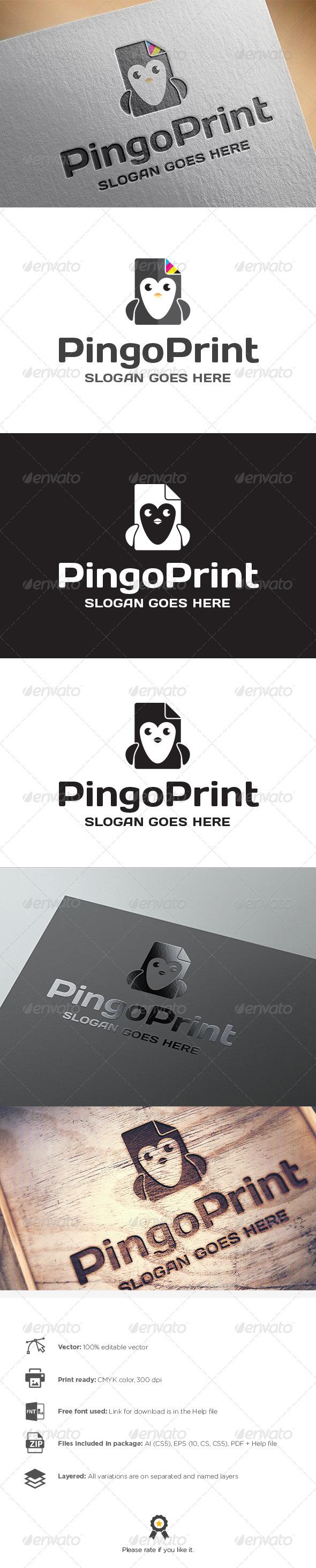 GraphicRiver Pingo Print Logo 8225496