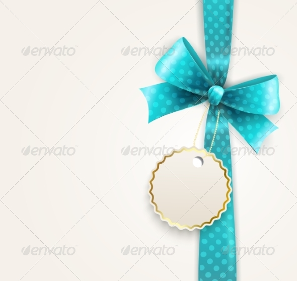 GraphicRiver Vector Isolated Blue Polka Dots Bow 8225497