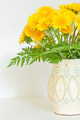 bouquet of dandelions in a white jug - PhotoDune Item for Sale