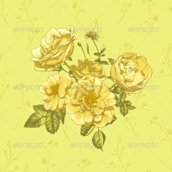 GraphicRiver Roses Greeting Card 8225595