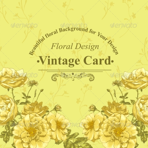 GraphicRiver Roses Greeting Card 8225611