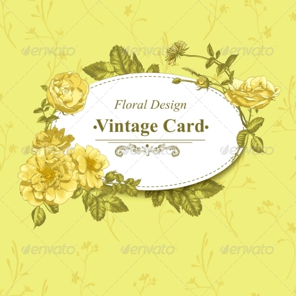 GraphicRiver Roses Greeting Card 8225613