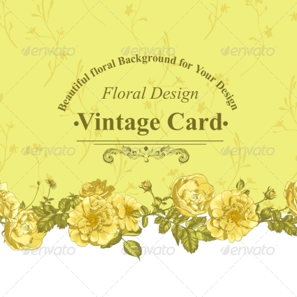 GraphicRiver Roses Greeting Card 8225658