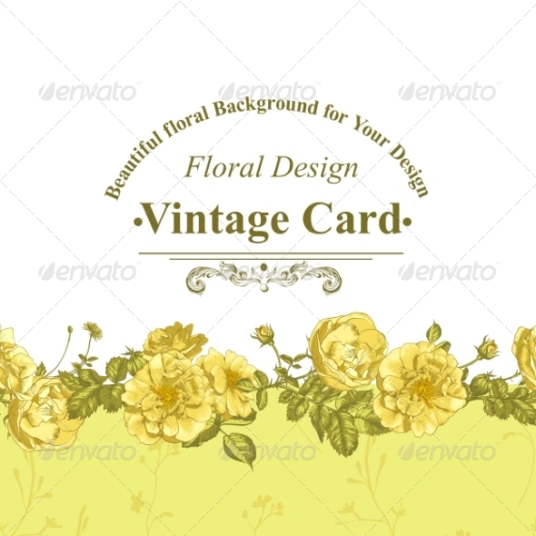 GraphicRiver Roses Greeting Card 8225659