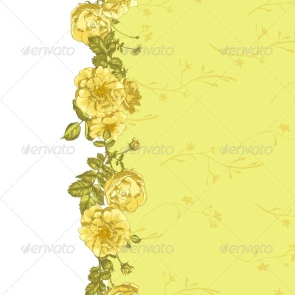 GraphicRiver Roses Border 8225662