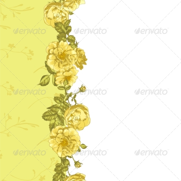 GraphicRiver Roses Border 8225664