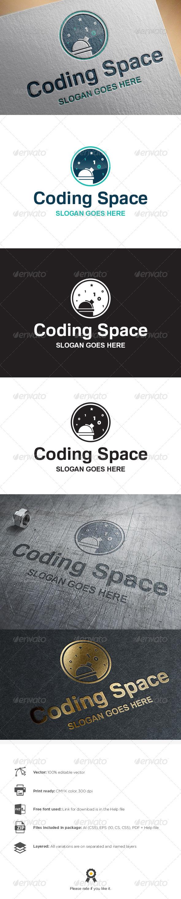 GraphicRiver Coding Space Logo 8225714