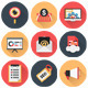Marketing and SEO Services Flat Icons Set - GraphicRiver Item for Sale