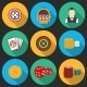 Colorful Icon Set on a Casino Theme.  - GraphicRiver Item for Sale