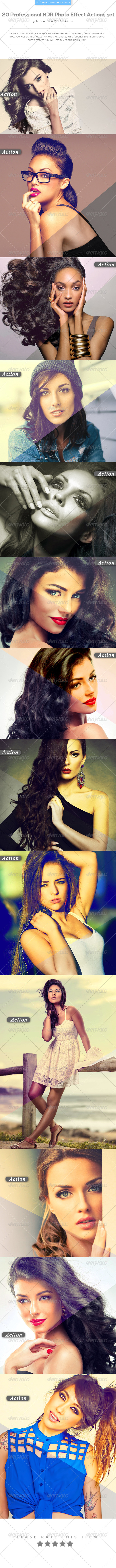 GraphicRiver 20 Professional HDR Photo Effect Actions set 8226020