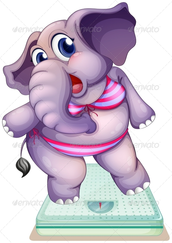 GraphicRiver An Elephant above the Weighing Scale 8226252