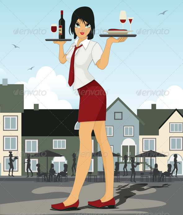 GraphicRiver Restaurant Waiter 8226534