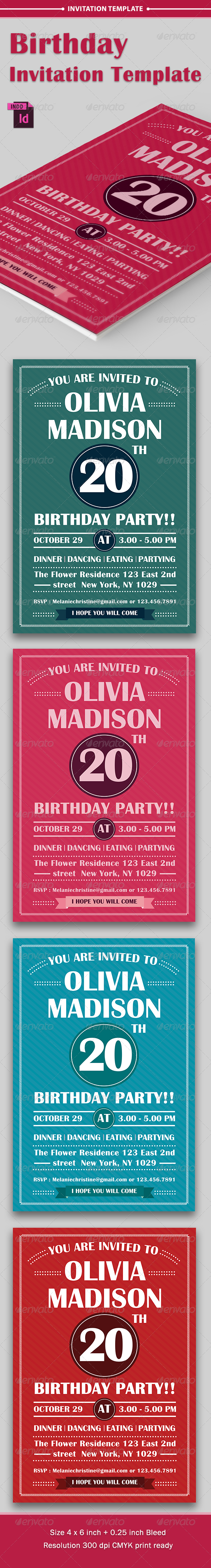 GraphicRiver Birthday Party Invitation Template Vol 2 8207863