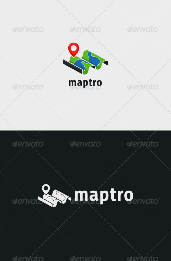 GraphicRiver Tracking Maps Logo 8226544
