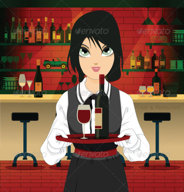 GraphicRiver Restaurant Waiter 8226566
