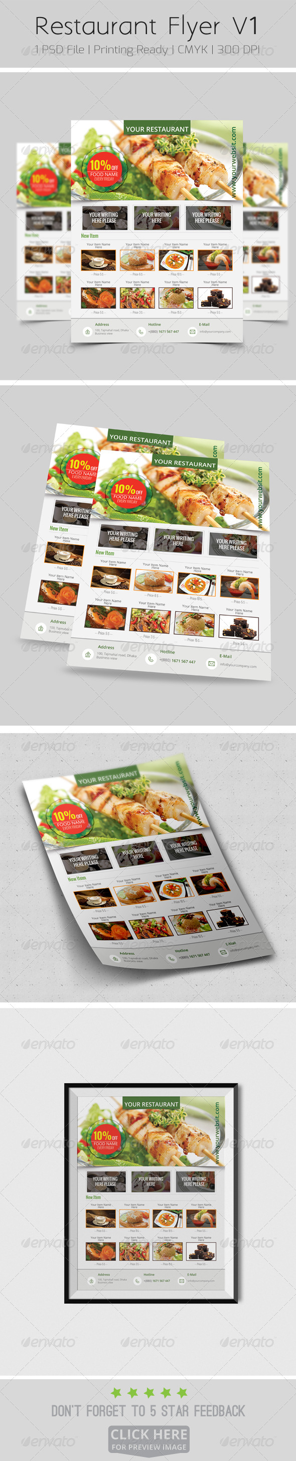 GraphicRiver Restaurant Flyer V1 8203267