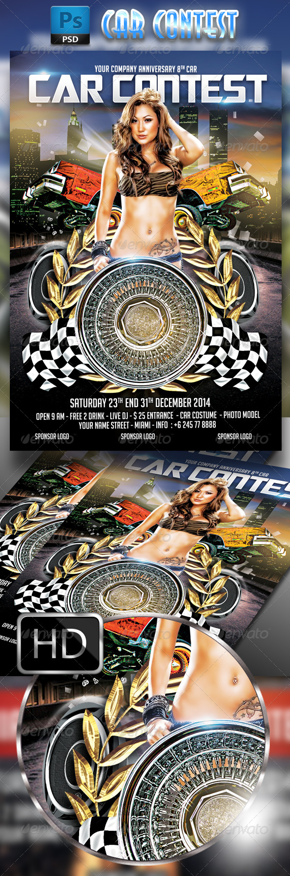 Car Contest Flyer Template