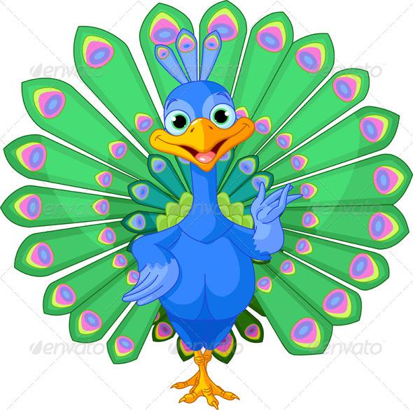 GraphicRiver Cartoon Peacock 8226675