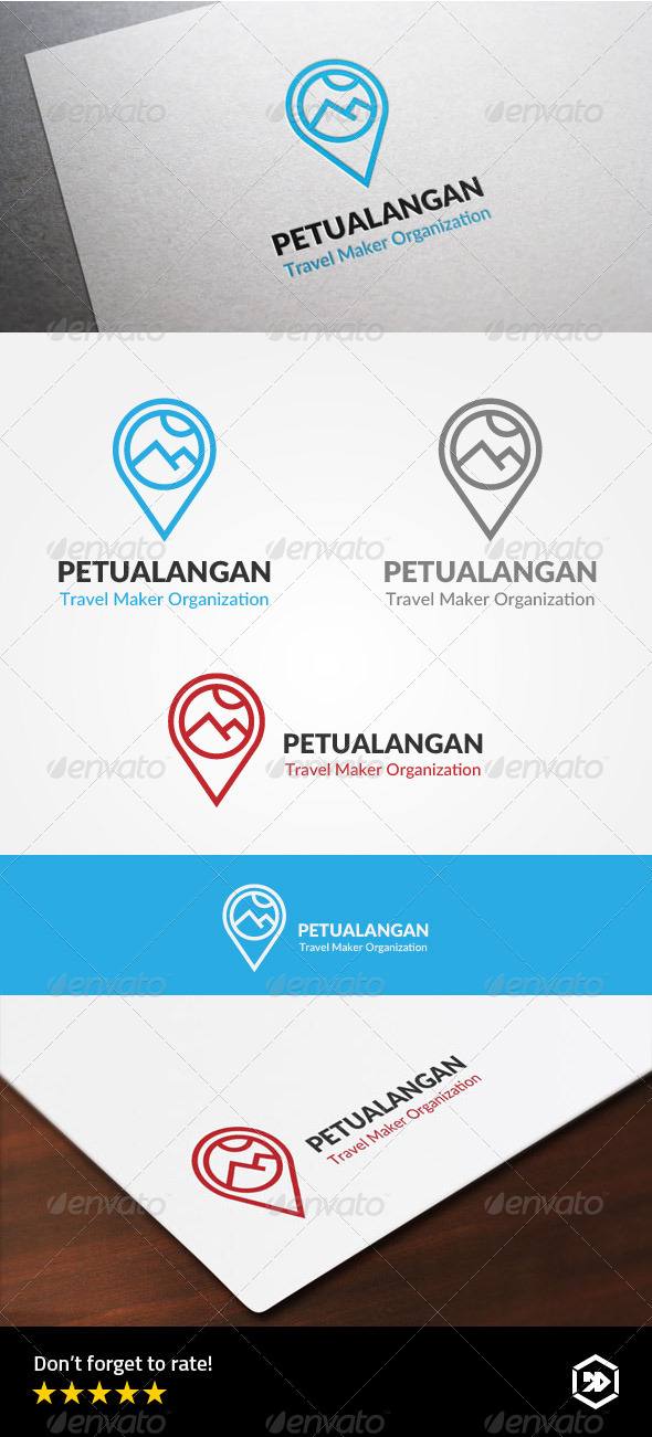 GraphicRiver Travel Adventure Locator Logo 8226702