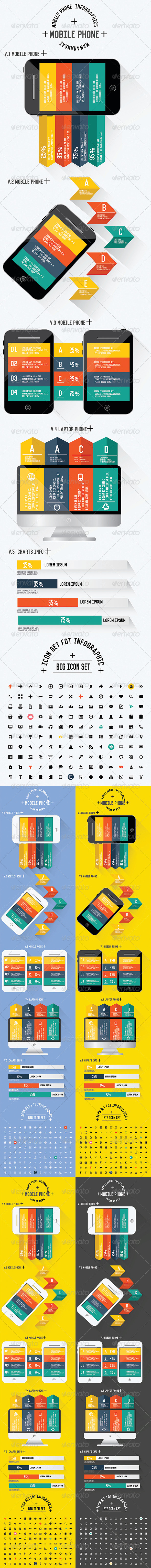 GraphicRiver Mobile Phone Infographics Design 8216472