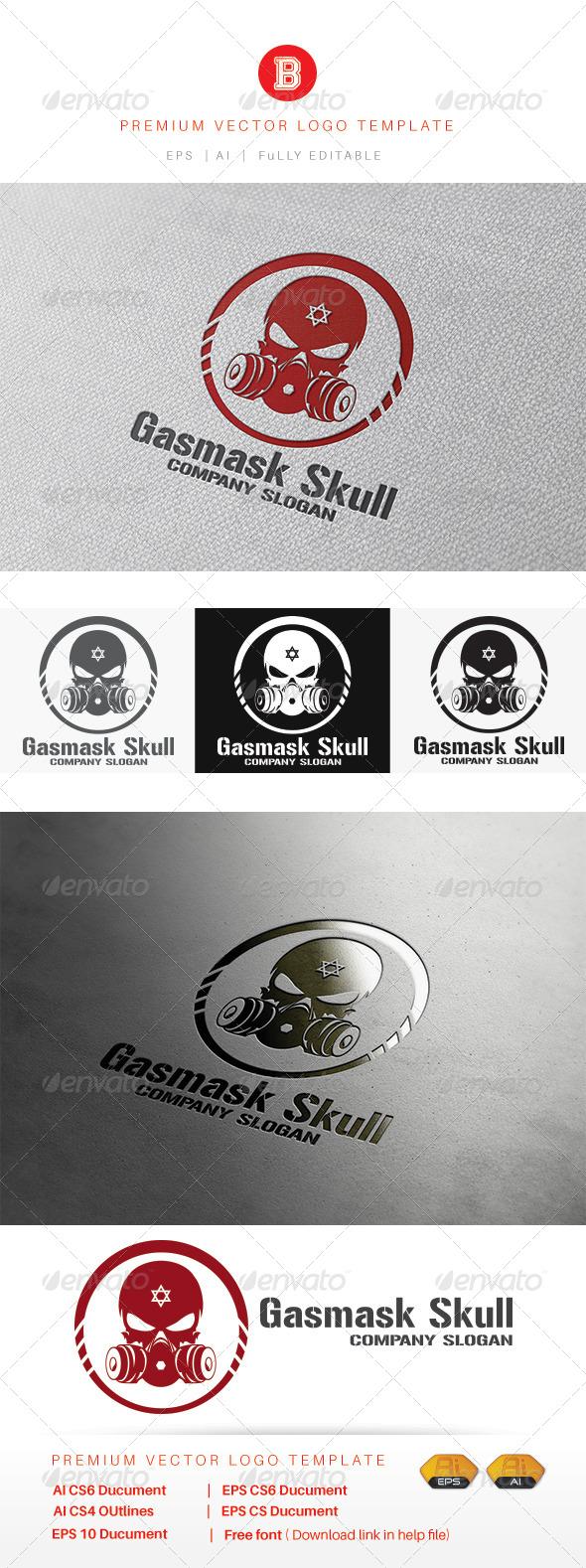 GraphicRiver Gasmask Skull 8226735