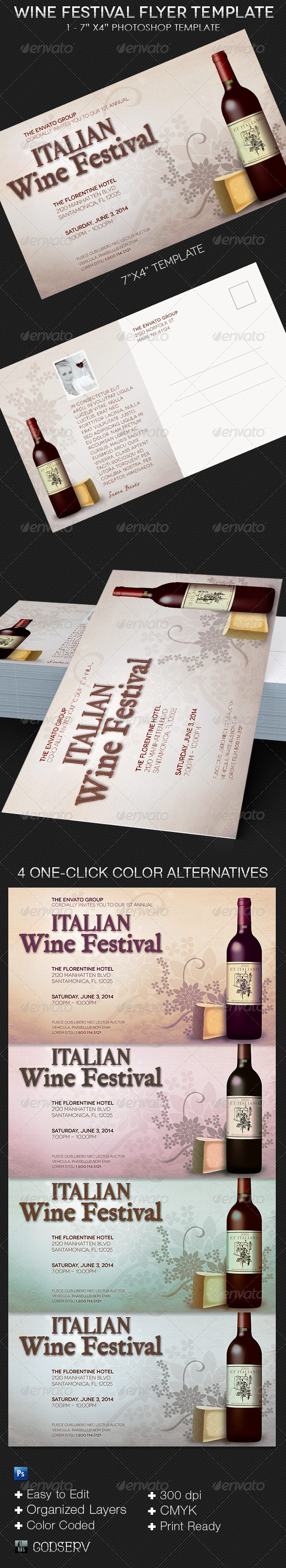 GraphicRiver Wine Festival Flyer Template 8226798
