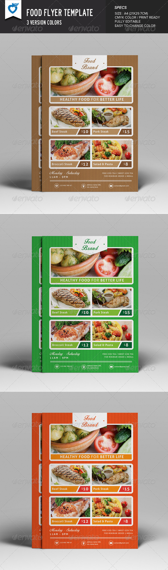 GraphicRiver Food Flyer 8226835