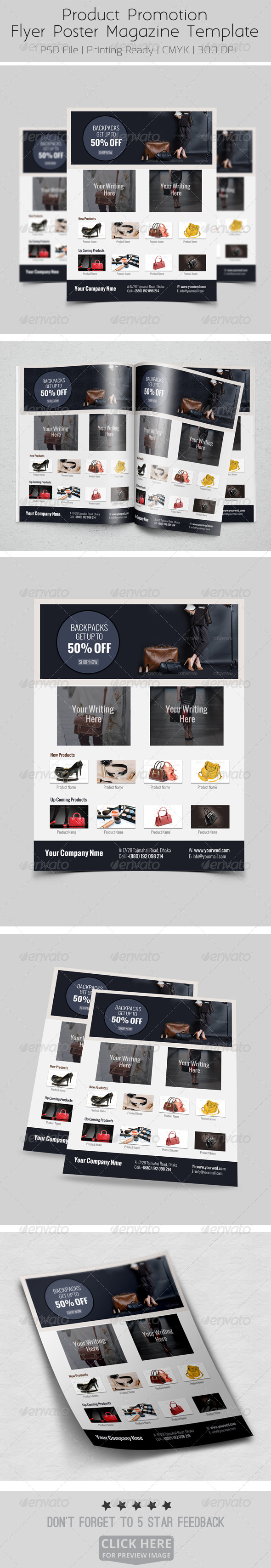 GraphicRiver Product Promotion Flyer Poster Magazine Template 8227187