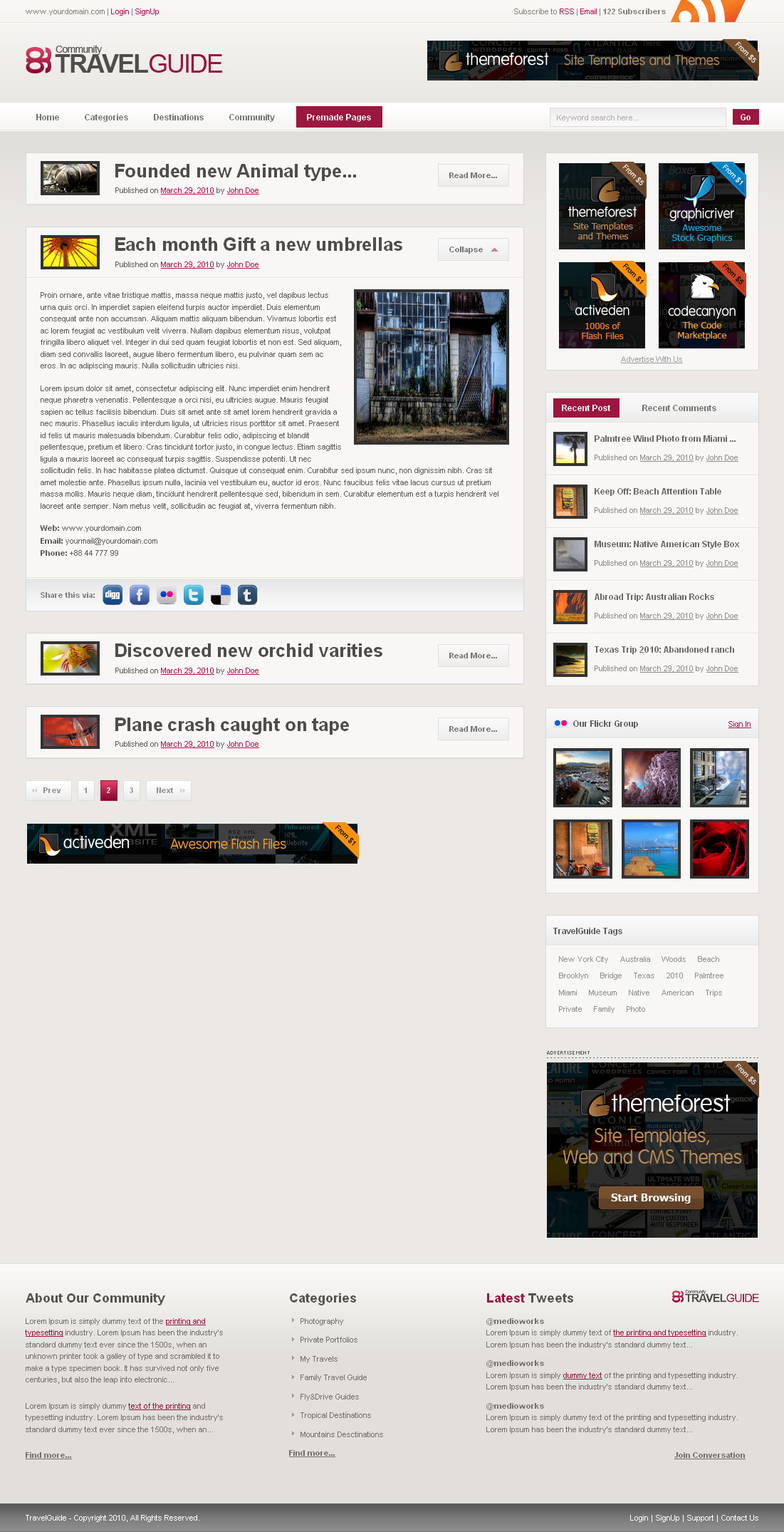 TravelGuide HTML Template