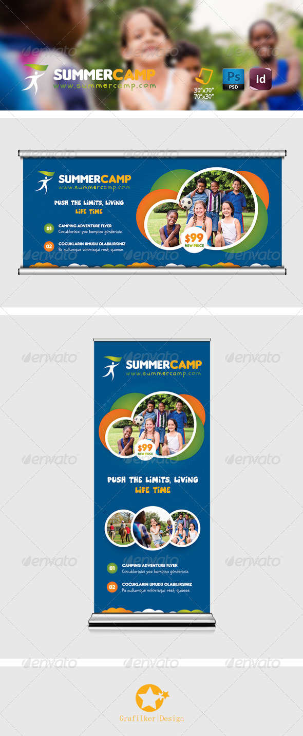 GraphicRiver Summer Camp Billboard Templates 8227403