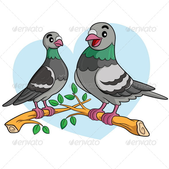GraphicRiver Pigeon Cartoon 8227711