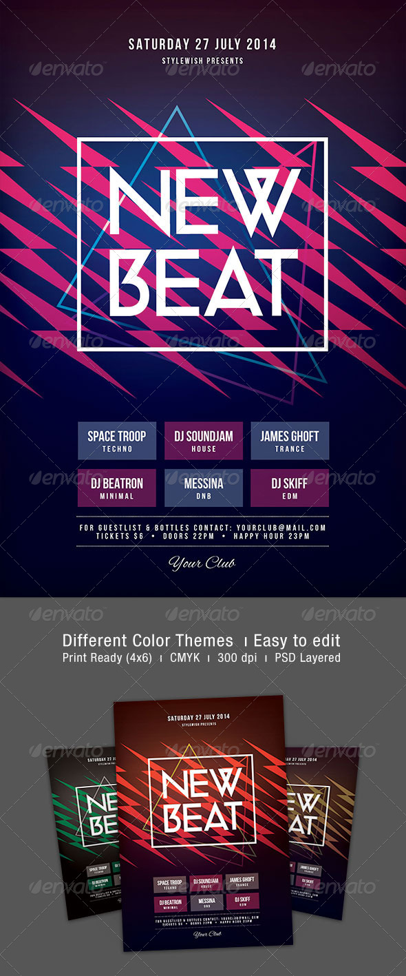 GraphicRiver New Beat Flyer 8228152