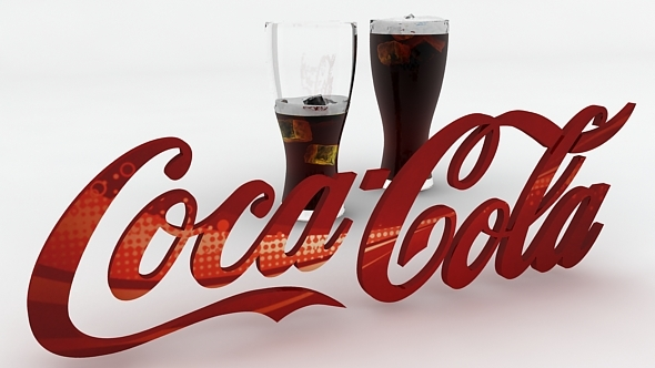 Coca-cola_logo_Render_setup - 3DOcean Item for Sale