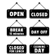Open and Closed Signs - GraphicRiver Item for Sale