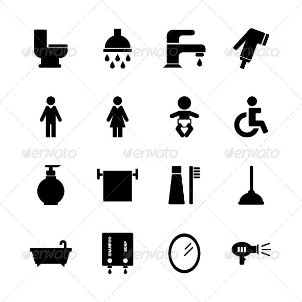 GraphicRiver Bathroom Icon 8228323