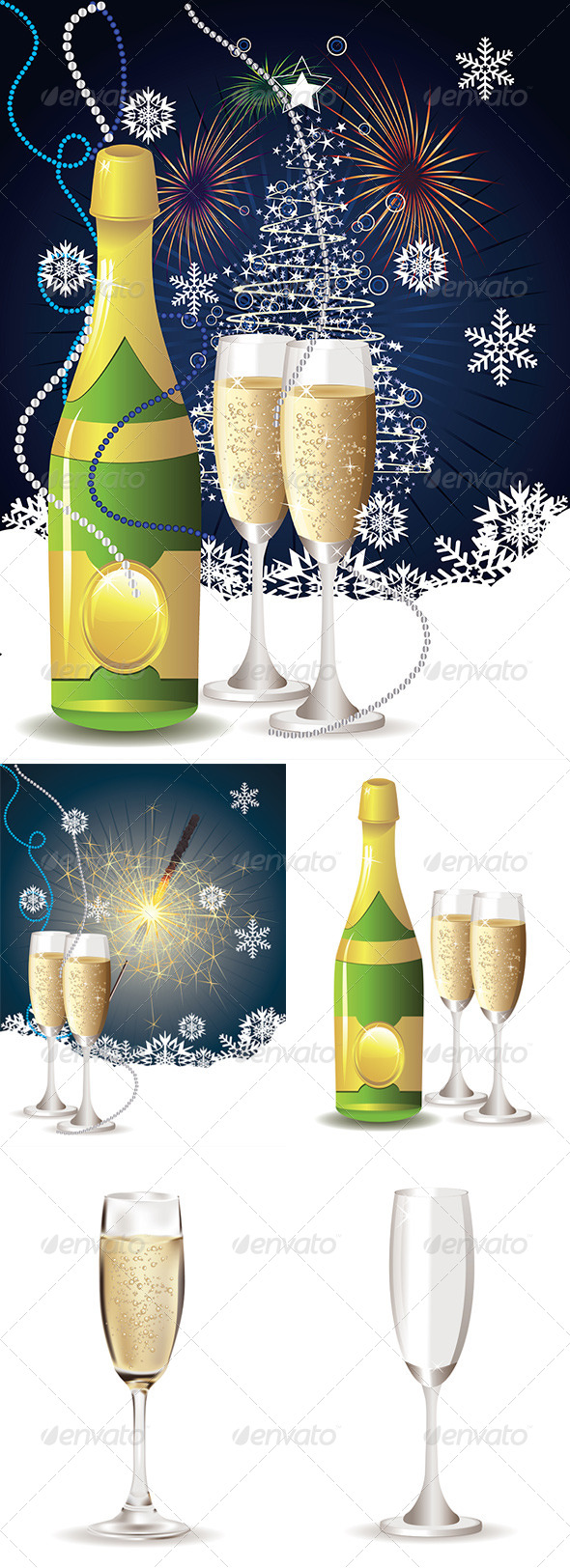 GraphicRiver Card with Champagne 8228327