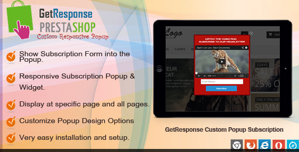 CodeCanyon Prestashop GetResponse Subscription 8228344