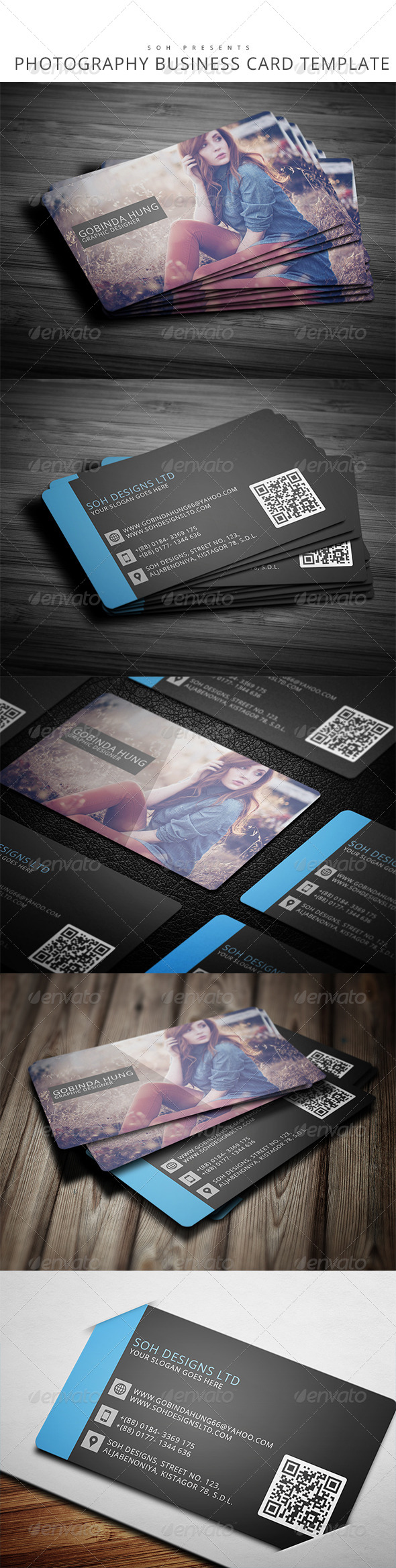 GraphicRiver Photography Business Card Template 8228355