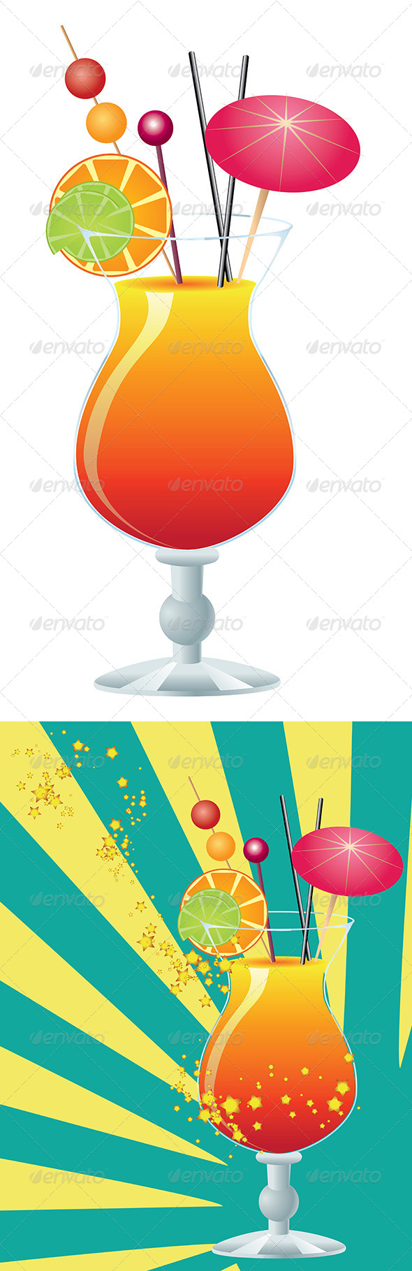 GraphicRiver Orange Cocktail 8228394