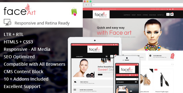 Face Art - Prestashop Responsive Theme - Health & Beauty PrestaShop