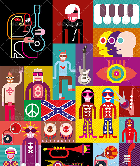 GraphicRiver Music Collage 8228395