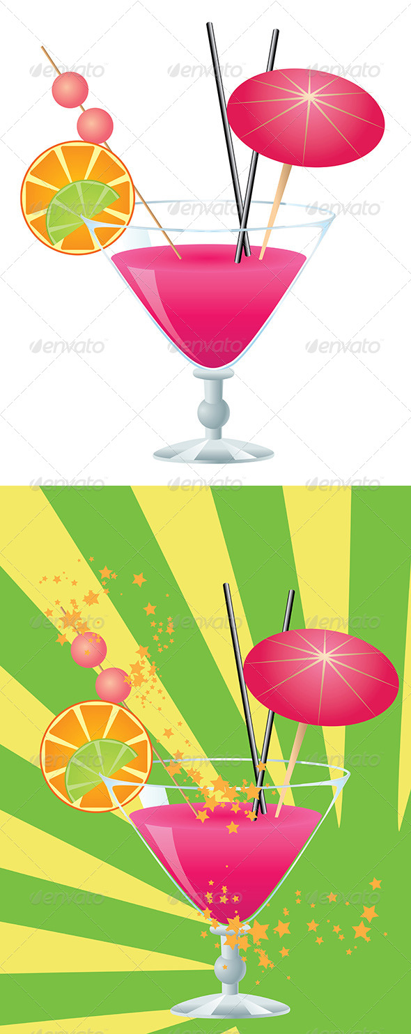GraphicRiver Pink Cocktail 8228398