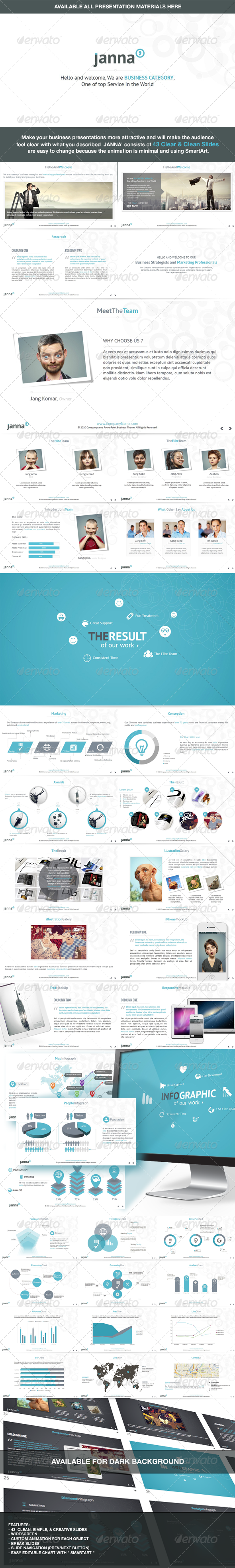 Janna Clear & Clean Keynote Template