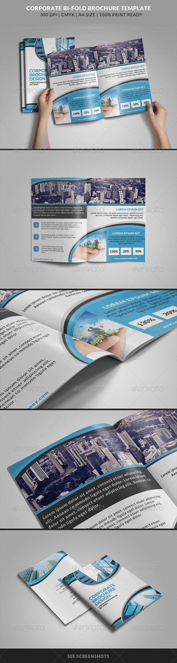 GraphicRiver Corporate Bi-Fold Brochures Template 5 8228757