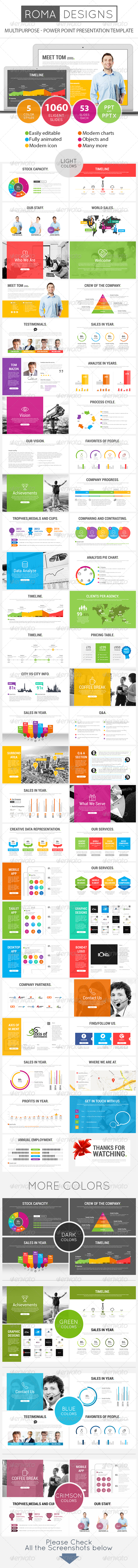 GraphicRiver Roma Power Point Presentation Template 8228860