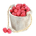 Fresh raspberry in the wooden bucket - PhotoDune Item for Sale