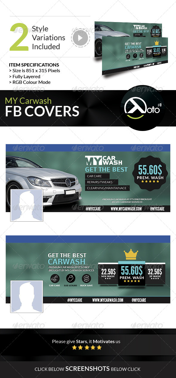 GraphicRiver MY Automobile Carwash Service FB Banner 8228858